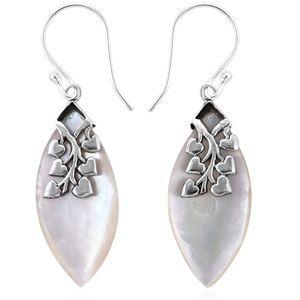 Genuine Mother of Pearl Dangle Earrings NWOTS
